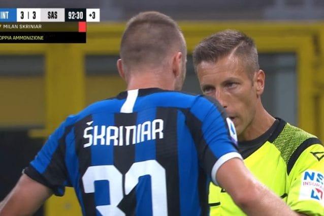 Serie A, Giudice Sportivo: tre turni di squalifica e multa per Skriniar
