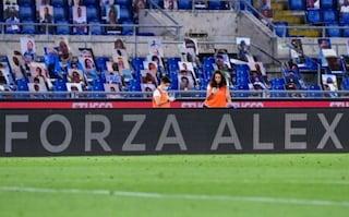 """L'omaggio a Zanardi in Lazio-Fiorentina: """"Forza Alex"""""""