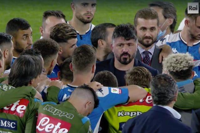 Cosa ha detto Gattuso al Napoli dopo la vittoria della Coppa Italia