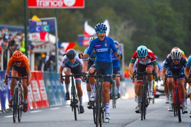 La gioia di Eleonora Gasparrini – Twitter UEC Cycling