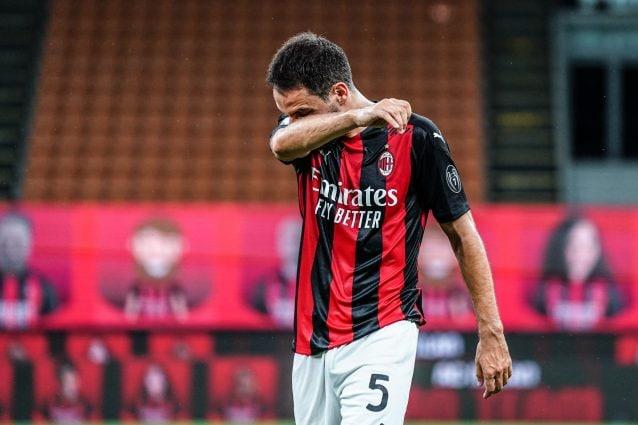 Jack Bonaventura in lacrime nell'ultima partita a San Siro