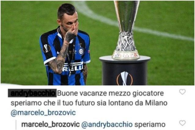 Brozovic risponde con ironia ad un tifoso: