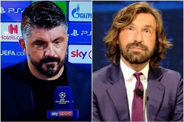 Gattuso scherza con Pirlo: