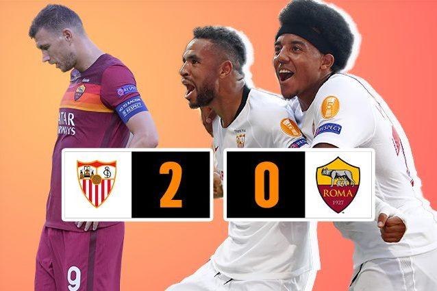 Siviglia-Roma 2-0, gol di Reguilon e En-Nesyri. Giallorossi fuori dall'Europa League agli ottavi