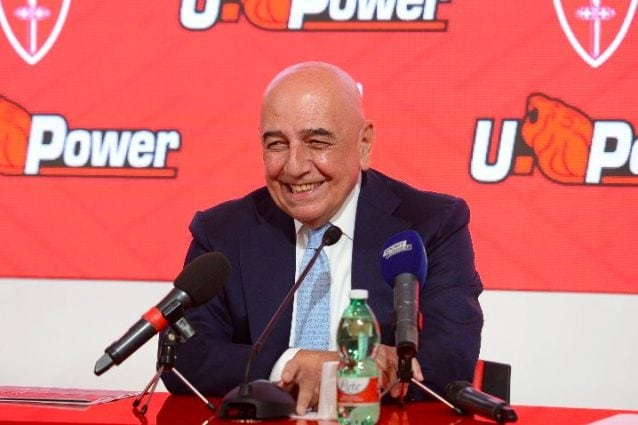 Galliani durante la conferenza – AC Monza