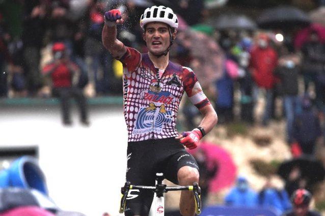 Il vincitore Ruben Guerreiro – Twitter Giro d'Italia