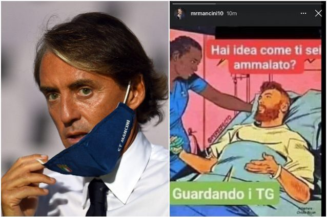 Coronavirus, la storia di Mancini scatena la polemica