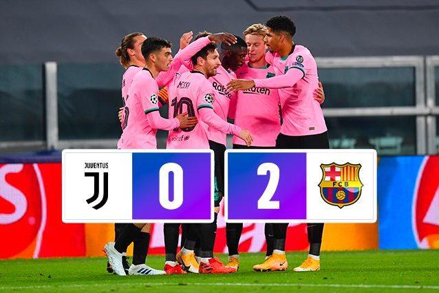 juventus barcellona 0 2 champions league 2020 2021 juventus barcellona 0 2 champions