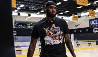 LeBron James indossa una maglia con Kobe Bryant e Gigi al primo allenamento dei Lakers