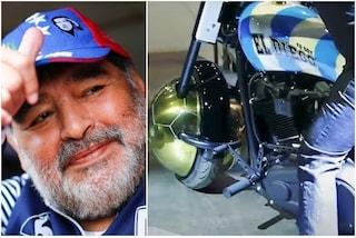 """La storia della motocicletta """"Io sono El Diego"""" nel patrimonio di Maradona"""
