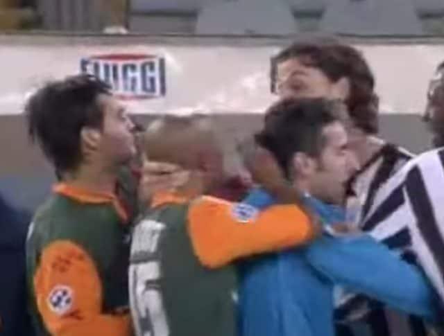 Ibrahimovic vs Dacourt in Roma-Juventus