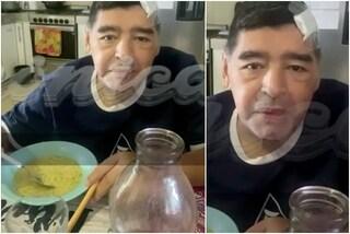 """L'ultimo video di Maradona prima della morte: """"Sono ammaccato ma va tutto bene"""""""