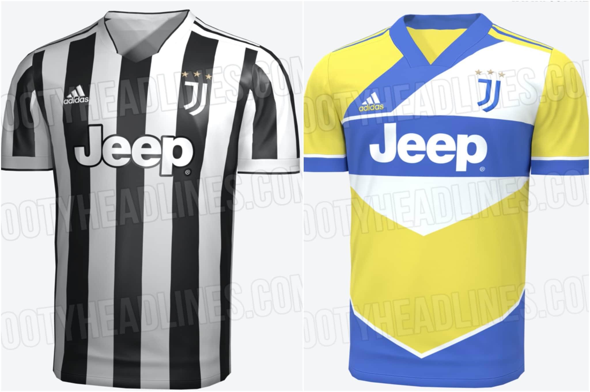 Le nuove maglie della Juventus 2021/2022: torna il giallo shock