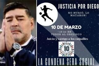 """""""Maradona non è morto, lo hanno ucciso"""": in Argentina la marcia per Diego"""