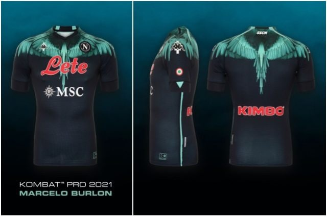 La nuova maglia del Napoli disegnata da Marcelo Burlon: sarà ...