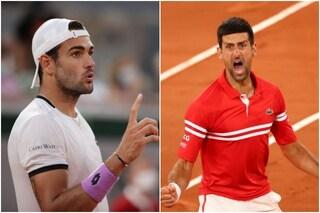 """""""Ho messo paura a Djokovic"""": Berrettini onorato dalle urla di Nole al Roland Garros"""