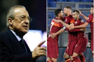 """Florentino Perez spiega la Superlega stroncando la Roma: """"I club non sono tutti uguali"""""""