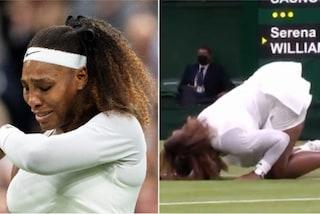 Le lacrime di Serena Williams commuovono Wimbledon: infortunio e ritiro dopo una scivolata