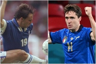 Il record di Federico Chiesa e di papà Enrico: prima coppia padre figlio a fare gol agli Europei