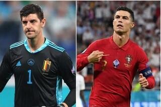 """Courtois punzecchia Cristiano Ronaldo: """"Mi sono evoluto più di lui. L'ho studiato e so cosa farà"""""""