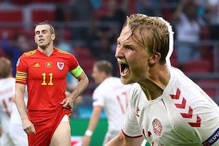 La Danimarca dà spettacolo e vola ai quarti: 4-0 contro il Galles