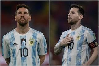 """Messi, gol e dedica a Maradona: """"Diego non c'è più ma allo stadio era con noi"""""""