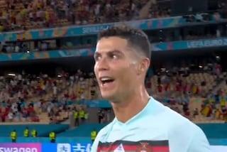 Cristiano Ronaldo non si trattiene: va da Courtois e glielo dice in faccia