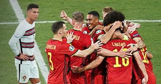 Sarà Belgio-Italia ai quarti degli Europei: battuto 1-0 il Portogallo di Cristiano Ronaldo