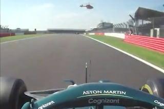 """L'elicottero danneggia Stroll a Silverstone: """"Controllate la macchina"""""""