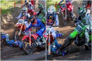 """Seewer schiacciato dalle moto di Cairoli e Monticelli in MXGP: """"Bel regalo di compleanno"""""""