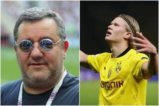La costosa richiesta di Raiola al Chelsea per 'liberare' Haaland (che non va al ritiro del Dortmund)
