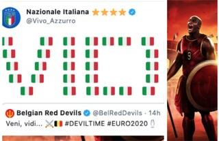 """""""Veni, vidi e vici"""", la vendetta dell'Italia dopo il tweet provocatorio del Belgio"""