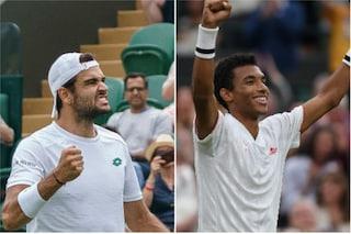 Berrettini batte Auger Aliassime 6-3, 5-7, 7-5, 6-3: è in semifinale a Wimbledon contro Hurkacz