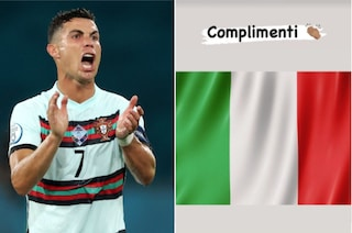 Cristiano Ronaldo tricolore: i complimenti all'Italia campione d'Europa