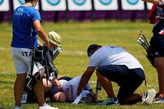 Svetlana Gomboeva sviene durante la gara di tiro con l'arco: paura alle Olimpiadi