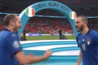 """Bonucci in trance agonistica esulta senza freni a Wembley: """"Ce lo succh***o"""""""