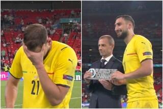 Straordinario Donnarumma, lacrime di gioia: eletto miglior giocatore degli Europei