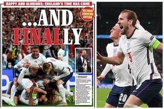 """""""Finally"""": il grido della stampa inglese che prova a spaventare l'Italia per la finale di Wembley"""