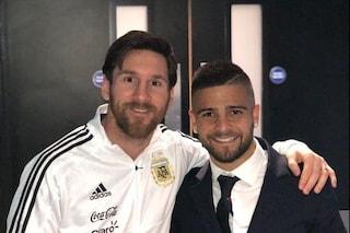 Una foto per la gloria eterna: Insigne e Messi sono i numeri 10 campioni d'Europa e Sudamerica