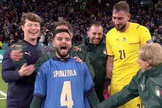 """Italia in finale degli Europei, la dedica di Insigne a Spinazzola: """"Dai Spinaaaa!"""""""