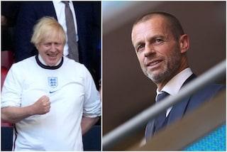 """Veleno inglese: """"Italiani dicono che Boris Johnson e la Superlega c'entrano col rigore di Sterling"""""""