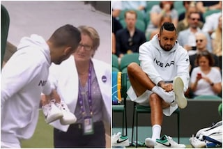 Kyrgios dimentica le scarpe e il match di Wimbledon con Aliassime inizia in ritardo