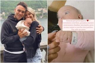 La piccola figlia di Lautaro Martinez ricoverata in ospedale per un incidente domestico