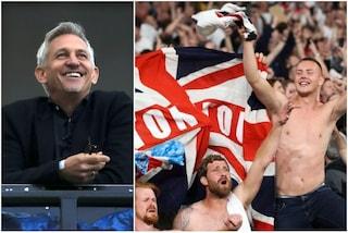 """Lineker ai tifosi dell'Inghilterra: """"Non fischiate l'inno dell'Italia. È da maleducati"""""""