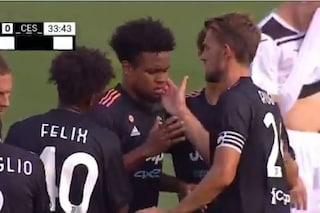 La prima Juve dell'Allegri bis vince 3-1 sul Cesena: a segno McKennie, Max lo fulmina con un gesto