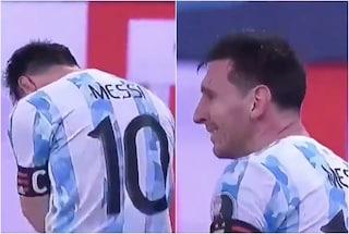 Le lacrime di Messi dopo la vittoria della Copa America: primo titolo in carriera con l'Argentina