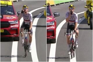 """L'esultanza polemica di Mohoric al Tour de France: """"Chiudete la bocca e state zitti"""""""