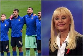 Raffaella Carrà, l'omaggio della Nazionale: prima di Italia-Spagna 'A far l'amore comincia tu'
