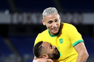 I numeri pazzeschi di Richarlison nella vittoria del Brasile all'esordio alle Olimpiadi di Tokyo