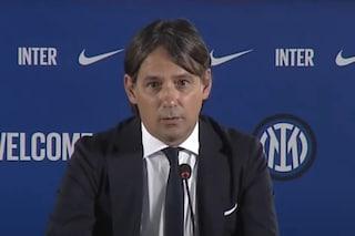 """L'Inter presenta Simone Inzaghi nell'incertezza: """"Siamo davanti a scenari inquietanti"""""""